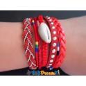 Bracelet brésilien aimanté rouge