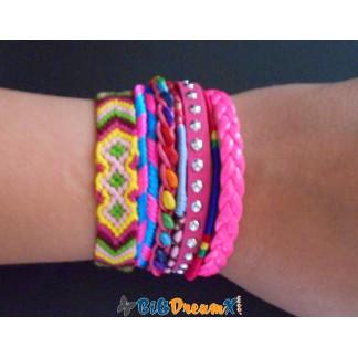 Bracelet brésilien aimant de couleur rose